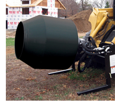 SitePro hydraulic cement mixer for skid steers