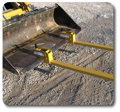 Clamp-on bucket forks, compact tractor bucket forks - front loader attachments from SitePro®.