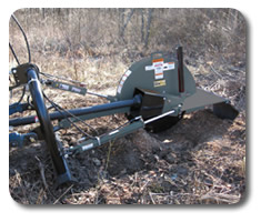 PTO driven stump grinder attachments for skid steers from SitePro.