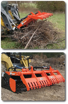 Revolutionizing the way rock grapples work, the SARG® (Sweep Action Rock Grapple) from SitePro makes life easier.