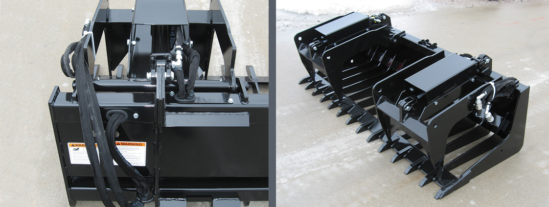 Skid Steer Low Profile Tine Grapple from SitePro