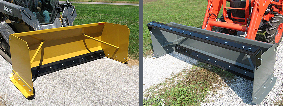 Snow Pushers for Skid Steers and Tractor Front Loaders from SitePro