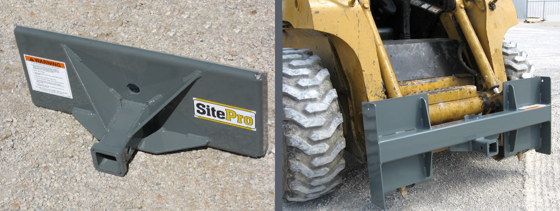 SitePro skid steer attachments – trailer movers for skid steer